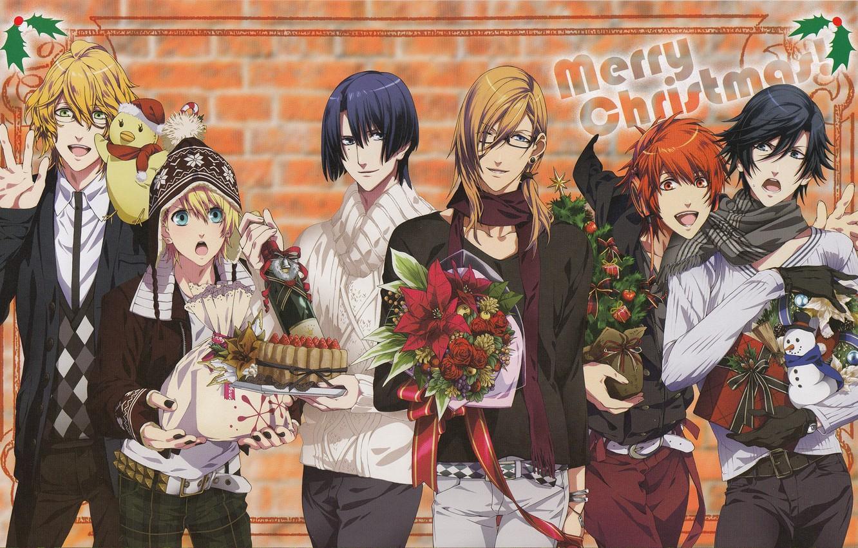 Фото обои цветы, группа, парни, поющий принц, Uta no Prince-sama