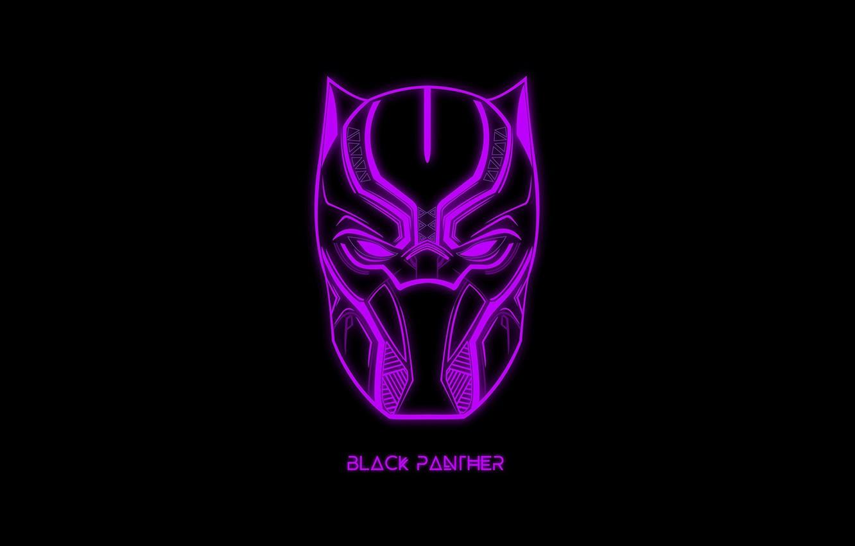 Фото обои надпись, маска, черный фон, MARVEL, Black Panther, Чёрная Пантера