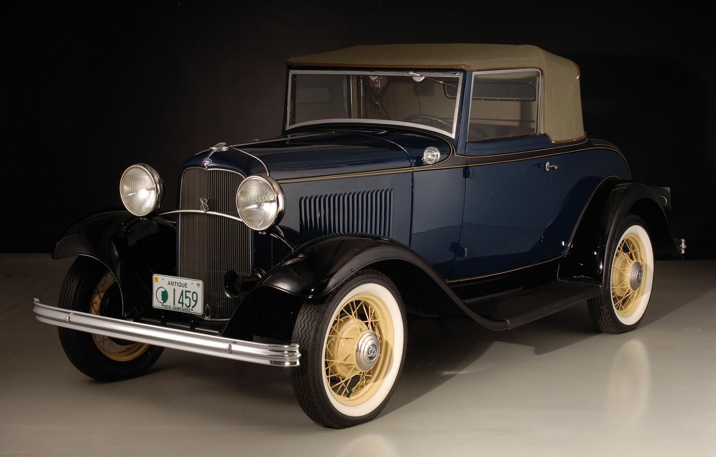 Фото обои авто, ретро, Ford, 1932, Cabriolet, V8