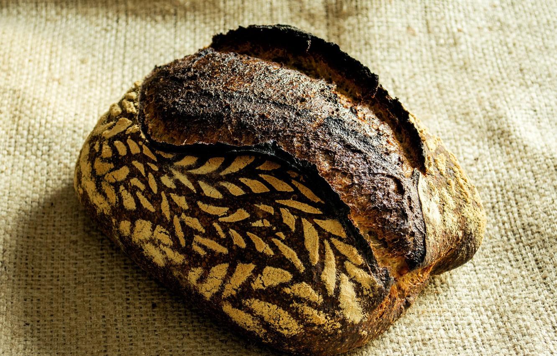 Фото обои узор, хлеб, мешковина, выпечка, булка, мука, хрустящая корочка