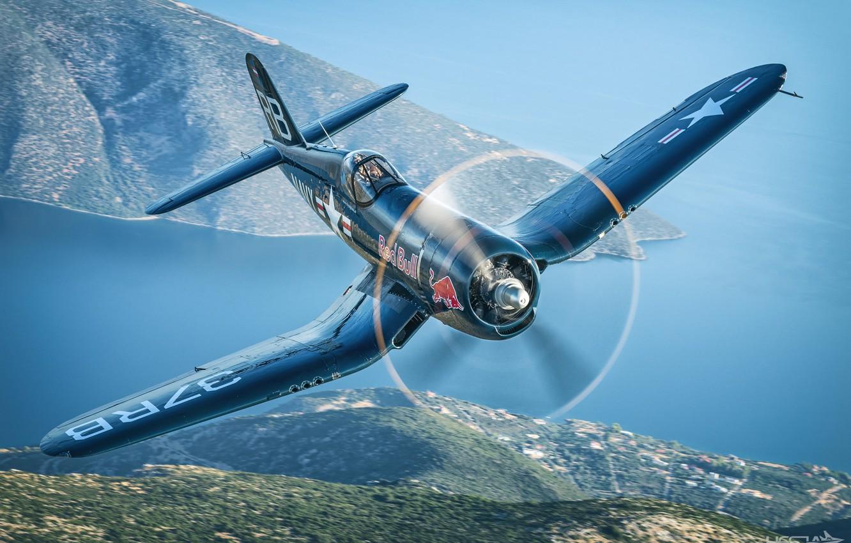 Обои Вторая мировая, F4u corsair, chance vought. Авиация foto 6