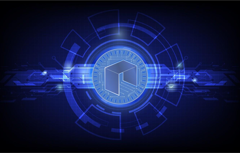 Фото обои лого, fon, neo, нео, криптовалюта, cryptocurrency