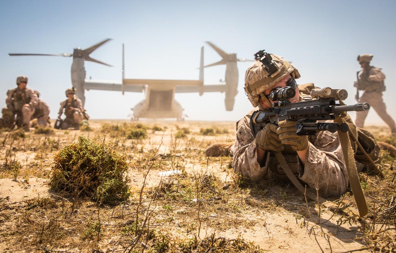 Фото обои оружие, армия, солдаты, десант