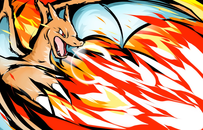 Фото обои огонь, дракон, Покемон, Чаризард