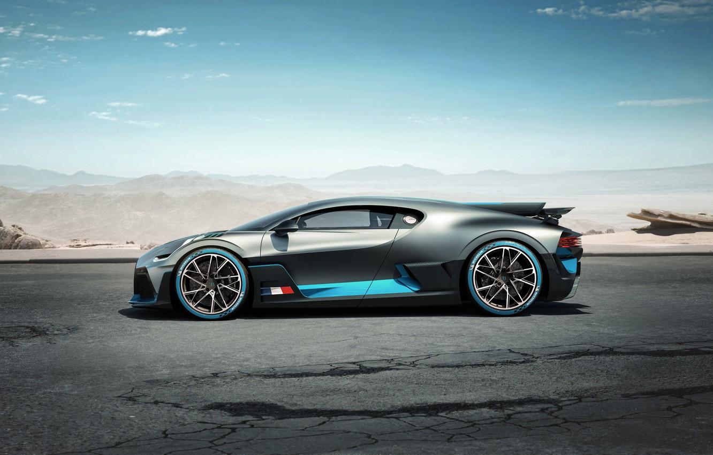Фото обои вид сбоку, гиперкар, Divo, Bugatti Divo, 2019 Bugatti Divo