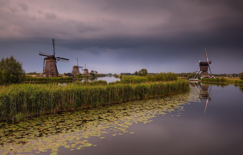 Фото обои Holland, Windmill, South Holland, Elshout