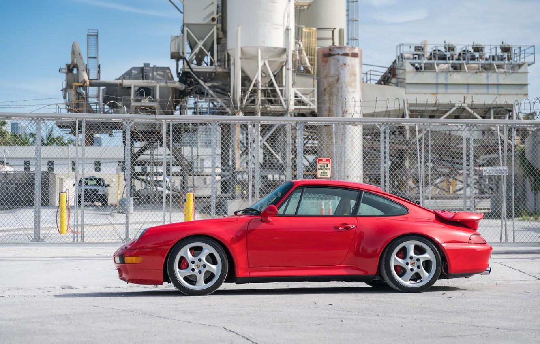 Фото обои Red, Porsche 911, Germany, Turbo, 993, Sportcar