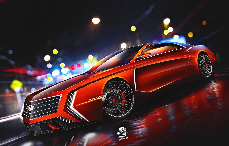 Фото обои Eldorado, Cadillac, Авто, Машина, Арт, Art, Concept Art, Vehicles, Cadillac Eldorado, Transport, Transport & Vehicles, …