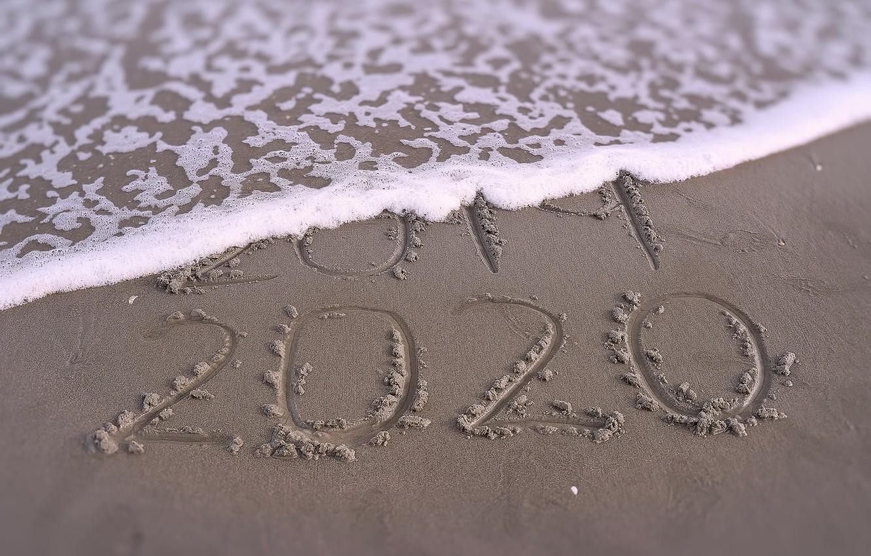 Фото обои песок, волна, 2020, 2019