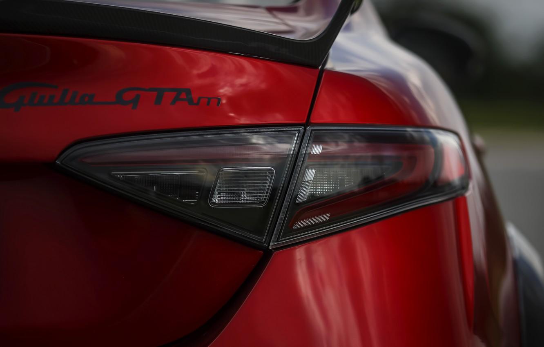 Фото обои фонарь, Alfa Romeo, корма, Giulia, GTAm, 2020, Gran Turismo Alleggerita modificata