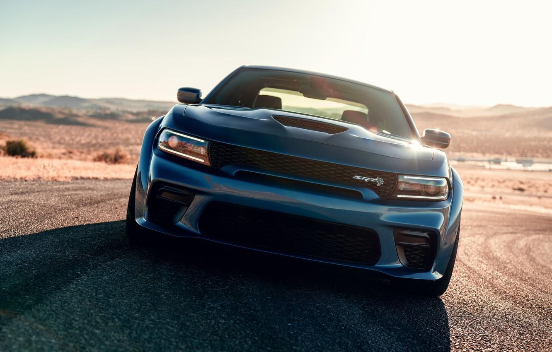 Фото обои машина, оптика, Dodge, Charger, Hellcat, SRT