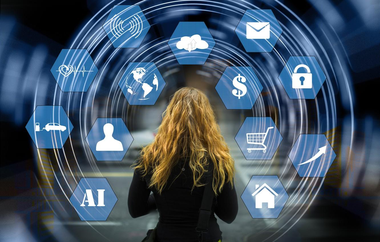 Фото обои девушка, сеть, технологии, интернет, web