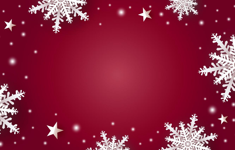 Фото обои зима, снег, снежинки, красный, фон, red, Christmas, winter, background, snow, snowflakes, frame