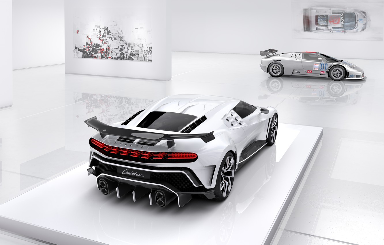 Фото обои Bugatti, фонарь, поколения, гиперкар, Centodieci