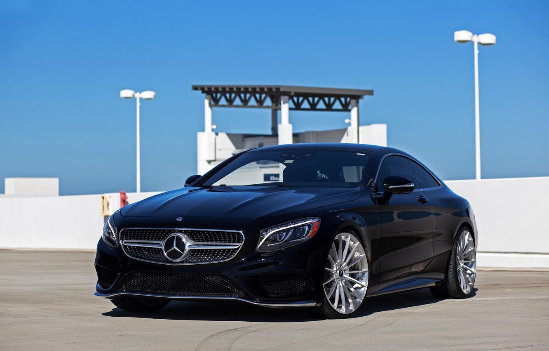 Фото обои Mercedes, Sky, Black, Coupe, S-class, W222