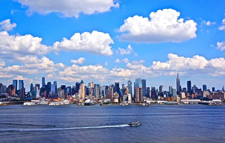 Фото обои океан, Нью-Йорк, яхта, США