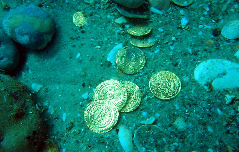 Фото обои золото, монеты, клад