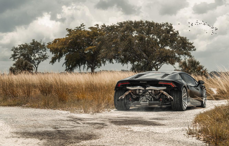 Фото обои Lamborghini, Tuning, Supercar, Rear, Huracan, Adv.1