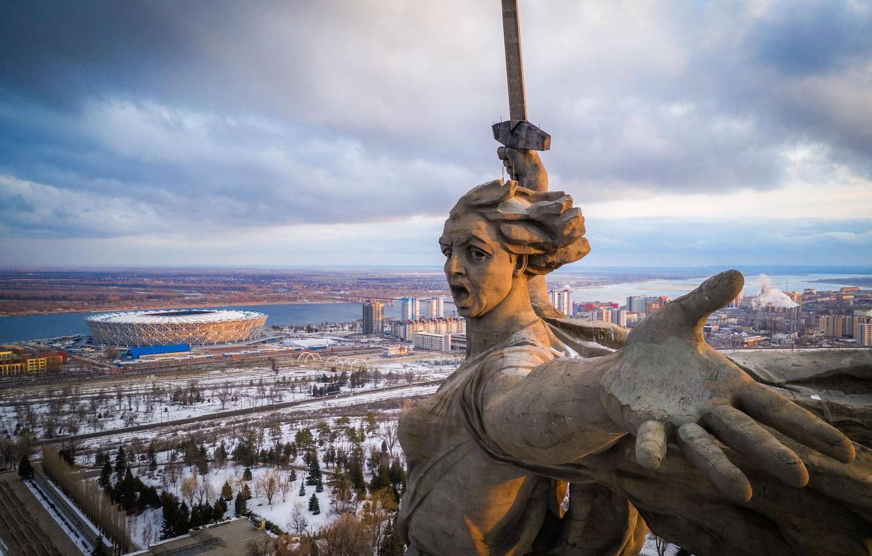 Фото обои победа, СССР, коммунизм, 9 мая, Великая Отечественная Война, Память, Сталинград, Волгоград, Мамаев Курган