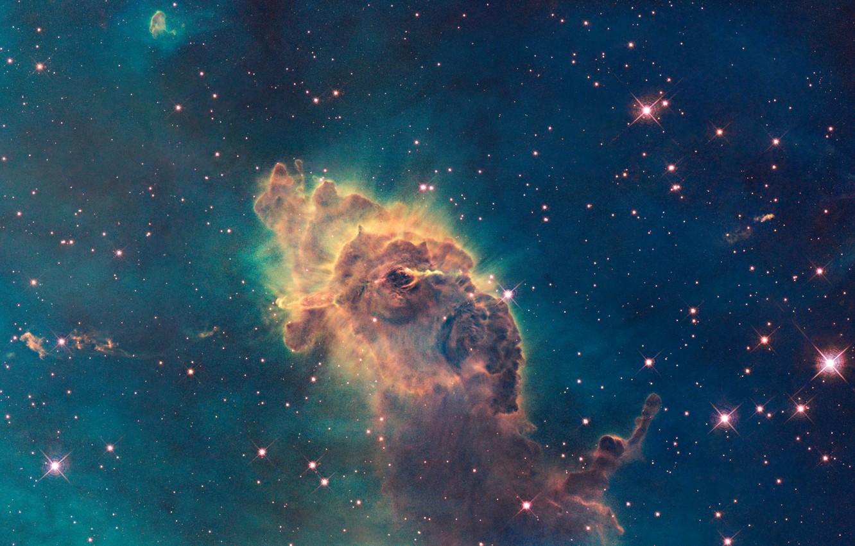 Фото обои Хаббл, Туманность, Млечный Путь, Carina Nebula