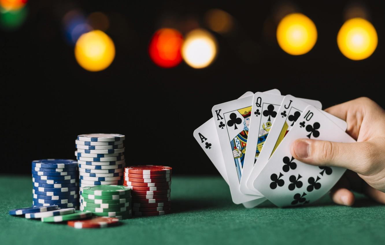 Фото обои карты, фишки, казино