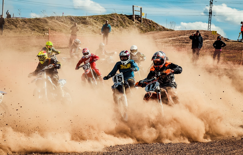 Фото обои гонка, Мотокросс, мотоспорт, motocross, эндуро, Мотоциклетный кросс