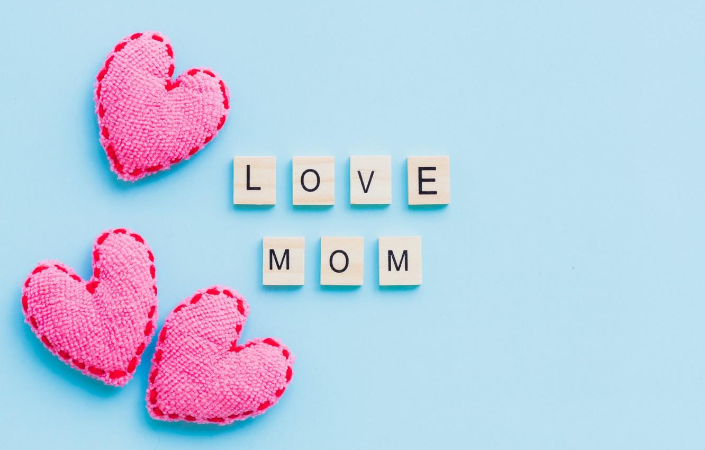 Фото обои любовь, сердце, love, pink, hearts, mom