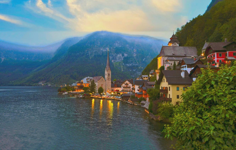 Обои hallstatt, lake hallstatt, австрия, гальштат, austria, alps. Города foto 17