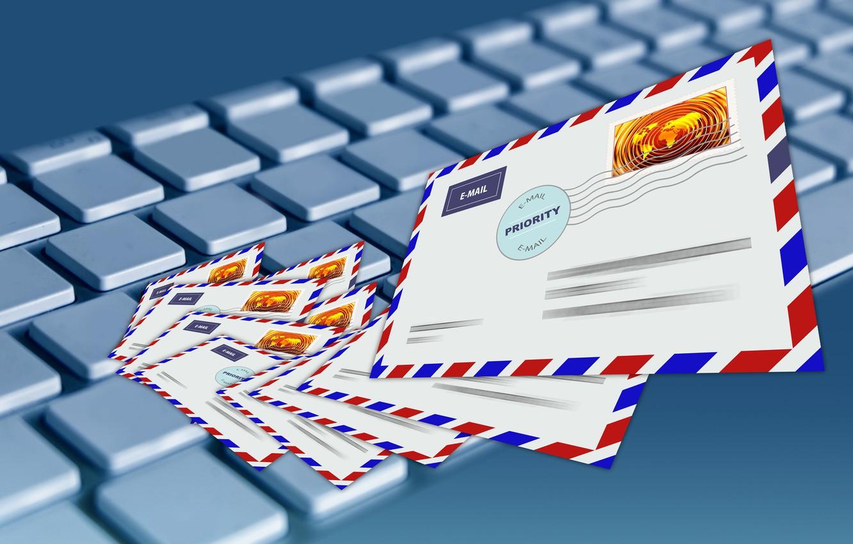 Фото обои клавиатура, общение, письма, электронная почта
