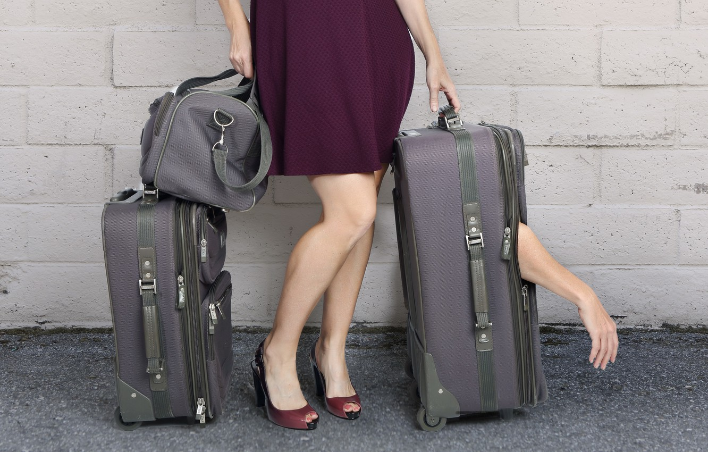 Фото обои ситуация, багаж, чемоданы