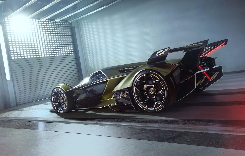 Фото обои Lamborghini, Колеса, Концепт-кар, Lambo, Диски, V12, Vision Gran Turismo, 2019, Lambo V12 Vision