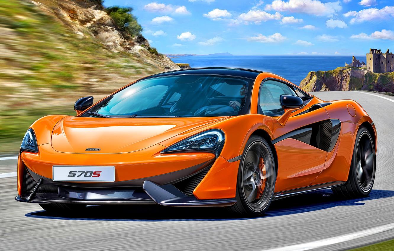 Фото обои McLaren, Великобритания, автомобиль, Спортивный, 570S