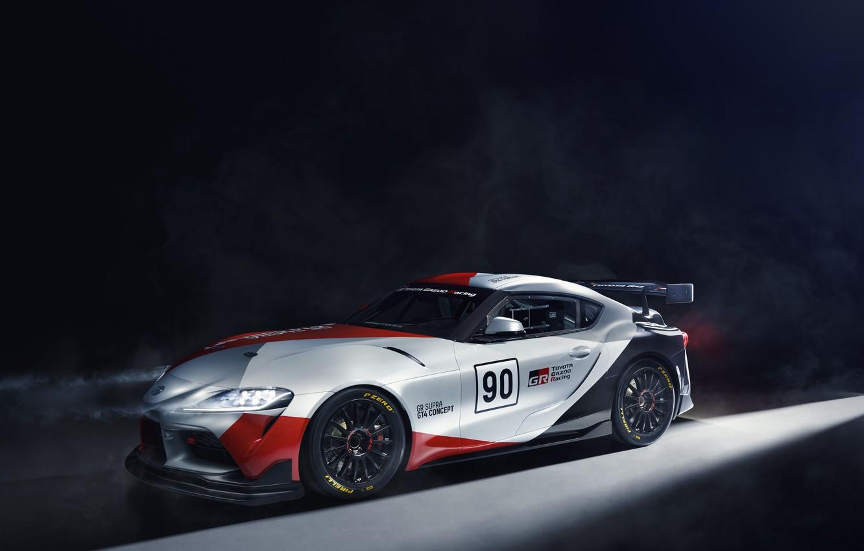 Фото обои свет, машины, фары, купе, concept, спорткар, Toyota, GT4, GR Supra