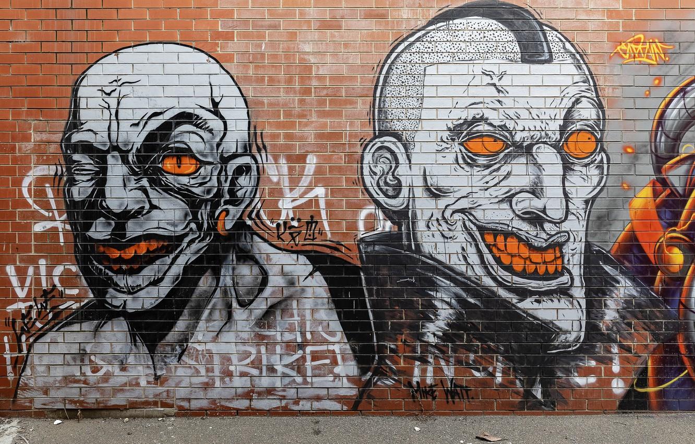 Фото обои Graffiti, Melbourne, Australia, Richmond, Street Art, Mike Watt