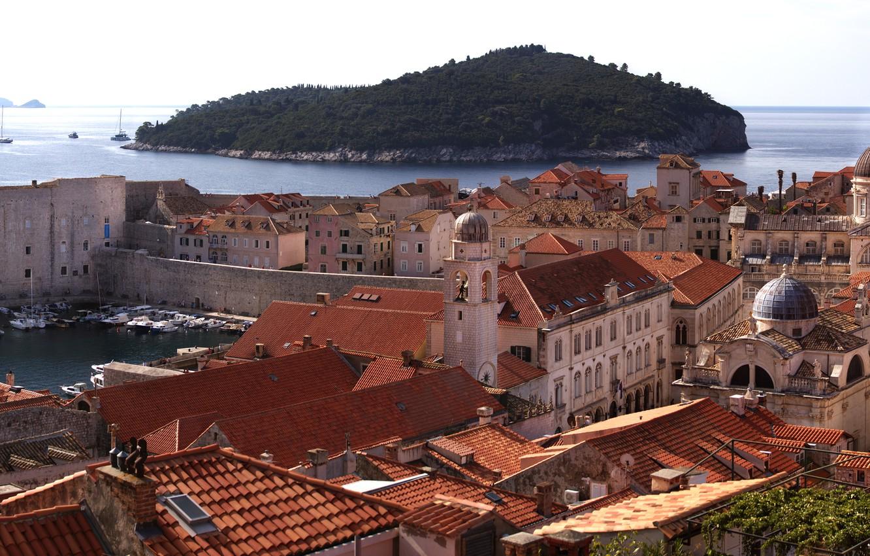 Обои Dubrovnik, здания, остров, дома, croatia, хорватия, адриатическое море, adriatic sea. Города foto 7