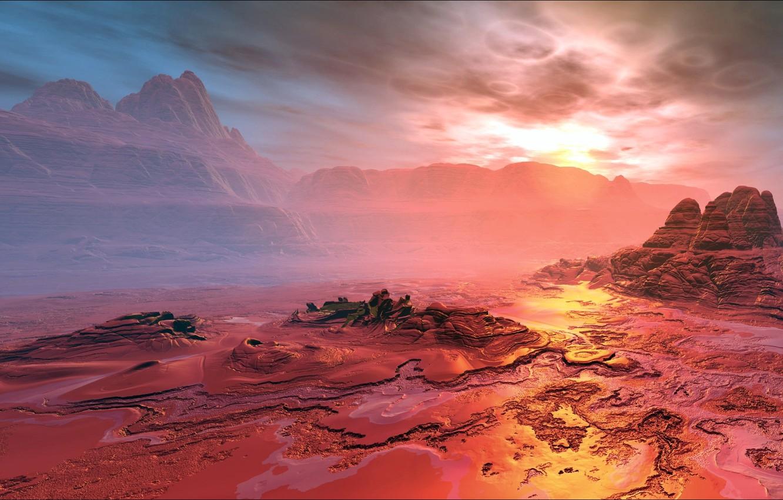 Фото обои Space, landscape, planet