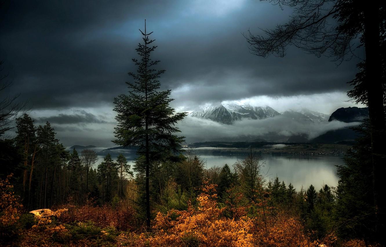 Обои Облака, hasliberg, швейцария, осень. Пейзажи foto 15