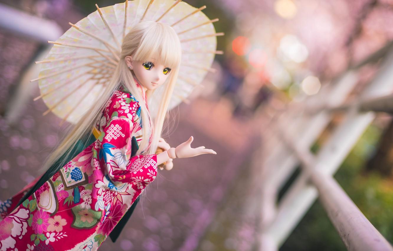 Обои японка, зонтик, Кукла. Разное foto 7