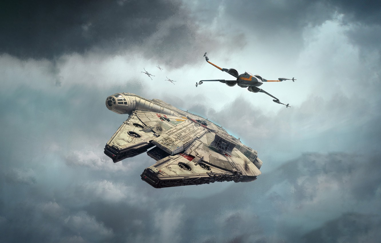 обои небо облака Star Wars арт звездные войны