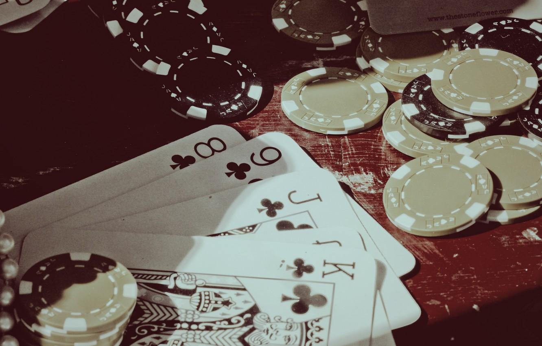 Фото обои карты, фишки, покер