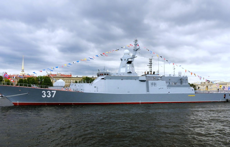 Фото обои корабль, корвет, Нева, сторожевой, Гремящий