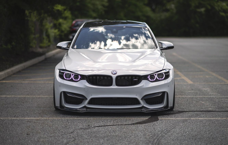 Фото обои BMW, Light, Front, White, Face, F80, LED, Angel Eye
