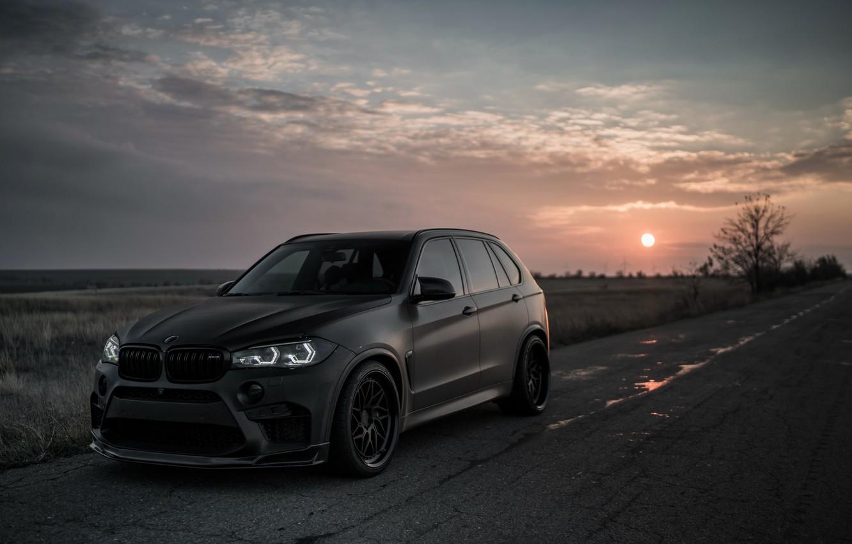 Фото обои закат, 2018, BMW X5, X5M, Z Performance