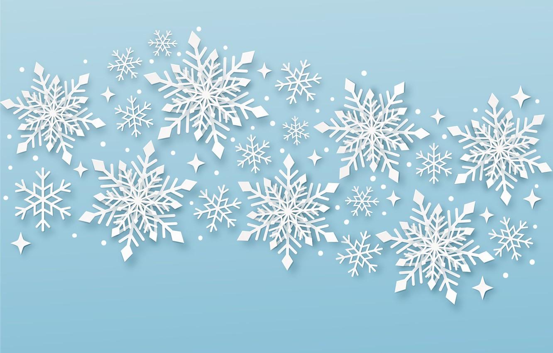 Фото обои снежинки, праздник, текстура, Новый год