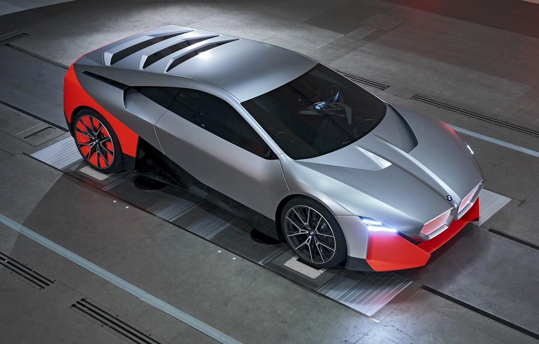 Фото обои купе, BMW, стенд, 2019, Vision M NEXT Concept