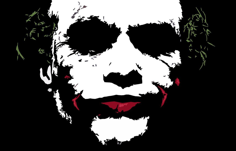 Фото обои Joker, Dark knight, Minimalism