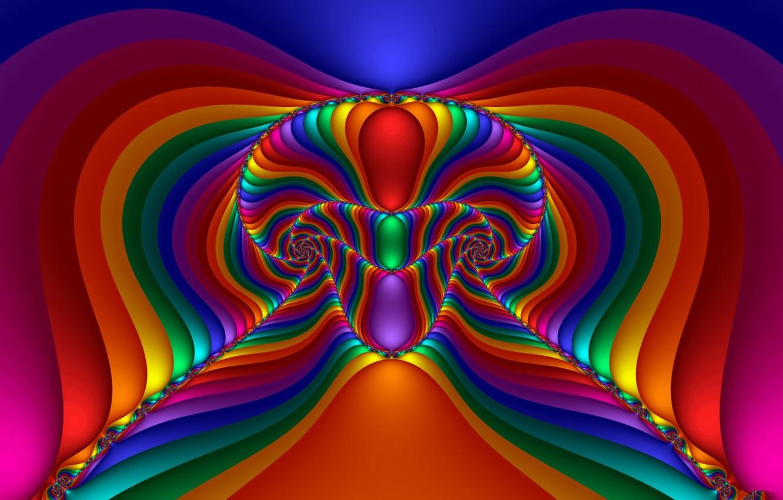 Фото обои фракталы, радуга, rainbow, компьютерная графика, fractals, игра цвета, color game, computer graphics
