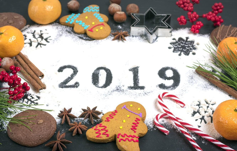 Фото обои украшения, Новый Год, Рождество, happy, Christmas, wood, New Year, cookies, decoration, пряники, gingerbread, Merry, fir ...