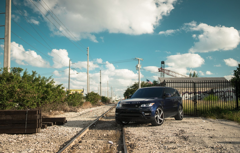 Фото обои Land Rover, Range Rover, Sky, Blue, Railway, Sport