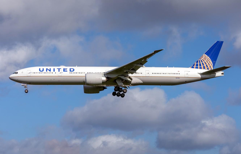 Фото обои Boeing, 777-300ER, United Airlines